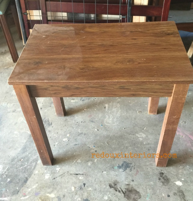 Elegant Junk Table with Overlay before redouxinteriors