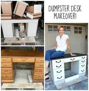 Vintage Industrial Dumpster Desk