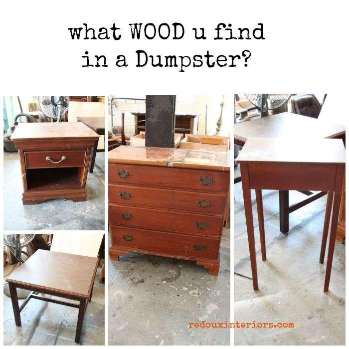 Tables dressers dumpster find redouxinteriors