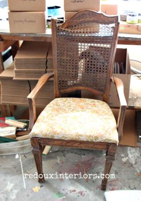 Broken Cain chair redouxinteriors
