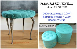 How to Paint Fabric or Vinyl using CeCe Caldwell's Paints