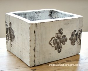 Trashy Tuesday How to Stencil on Old Wood With Stain