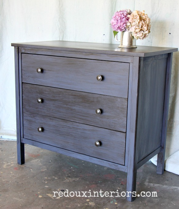 Cece caldwells newport navy and walnut stain on nightstand redouxinteriors