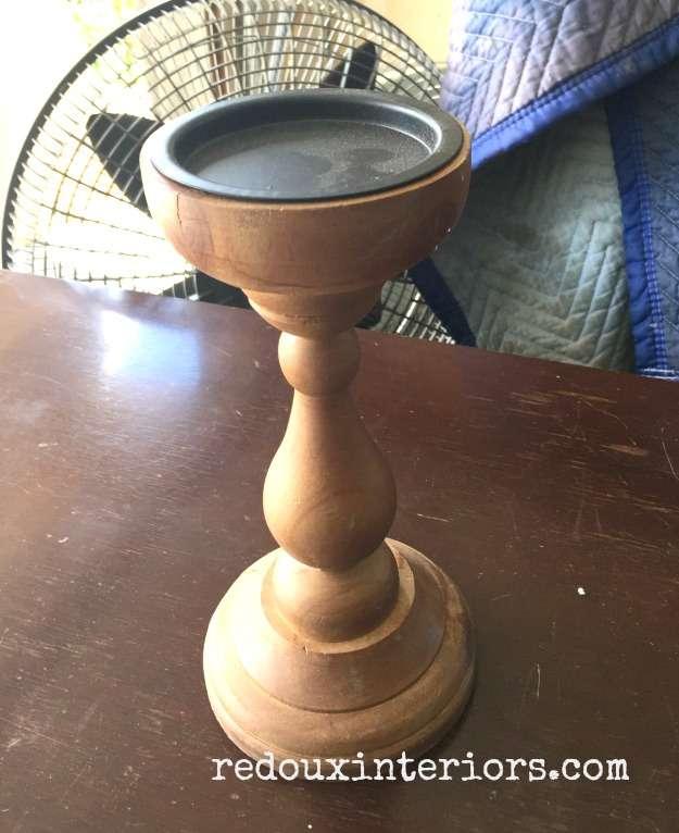 Dumpster found candle stick redouxinteriors