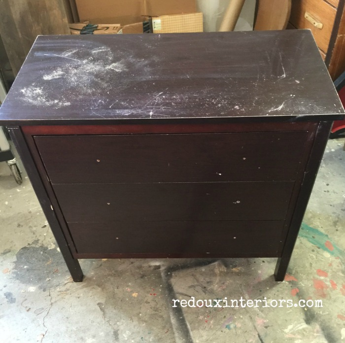 Dumpster nightstand before