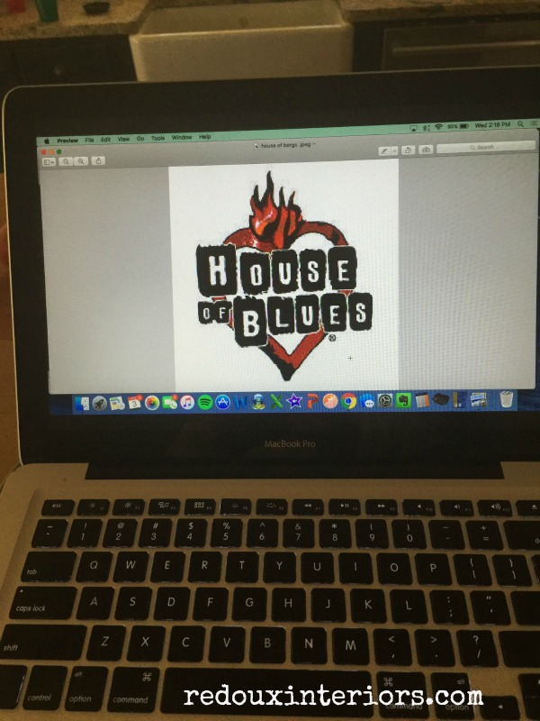 House of blues logo on lap top redouxinteriors