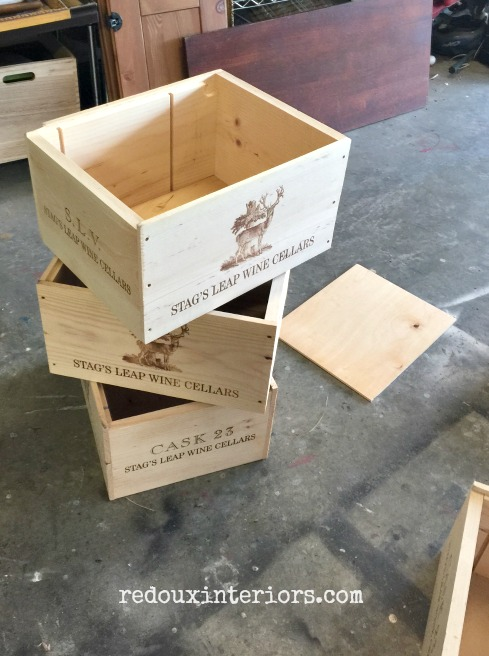 free wine crates with free wood bottom redouxinteriors