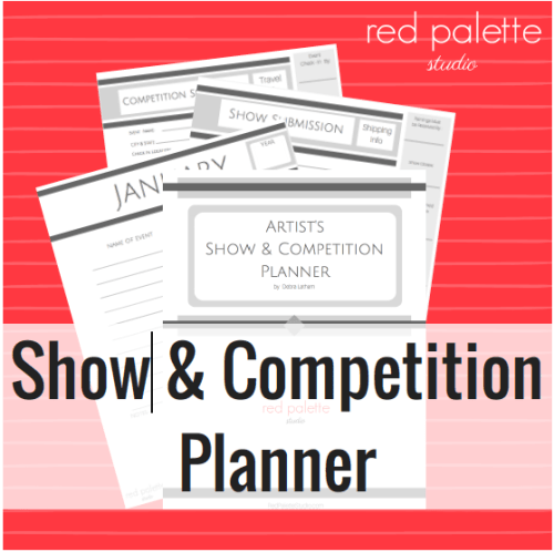 Artist's Show & Competition Planner by Red Palette Studio: Wow! This is such a great way to organize all my information for art shows and competitions! I've tried it and it works really great. This saves me so much time and frustration and was really easy to set up.