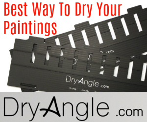 Dryangle: The Best Way to Dry Wet Paintings: This is a Great Drying rack for wet paintings. Especially for travel. Its Light Weight, Durable, and fFolds Flat