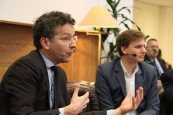 Jeroen Dijsselbloem en Igno Notermans. Foto: Room for Discussion