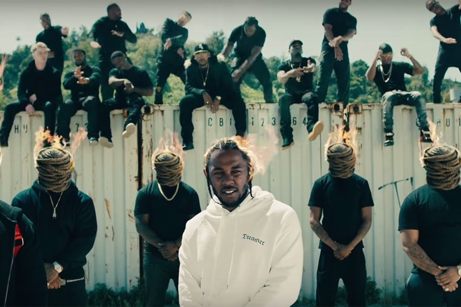Screenshot van Kendrick Lamar - HUMBLE. (C) 2017 Aftermath/Interscope (Top Dawg Entertainment). Beeld via Youtube