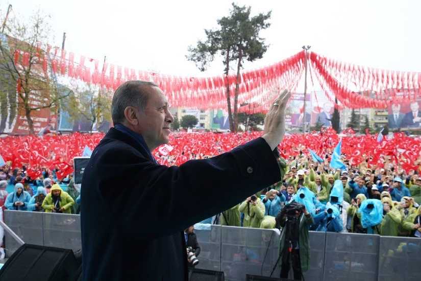 Turkish President Recep Tayyip Erdogan made a visit to Ordu on Thursday, April 13, 2017 to participate in the 'Army Encounters' program organized by the 'Yes Platform'.