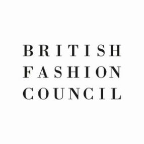 Logo van de British Fashion Council, die onder andere de London Fashion Week organiseert. Foto: British Fashion Council