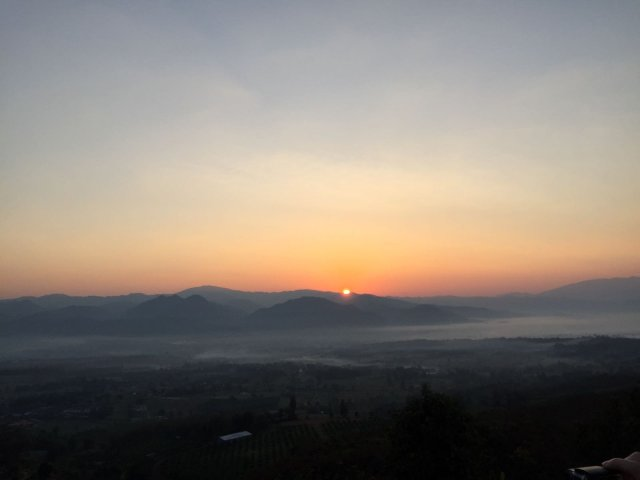 Sunrise-in-the-chinese-village-in-pai