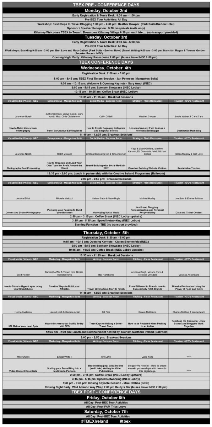tbex-conference-schedule