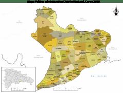 Mapa político administrativo Distrito nacional