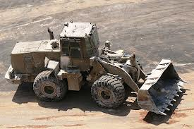Caterpillar's D9R armored bulldozer