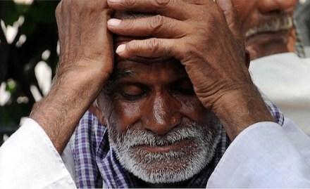 Indian farmer despair