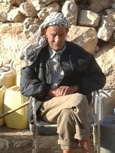 Wadi Fuqeen shepherd – received demolition order from Israeli occupiers