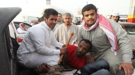 Saudi racists abuse African