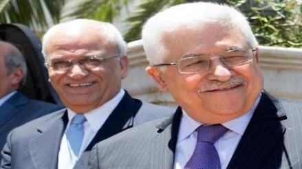 Saeb Erekat and Mahmoud Abbas