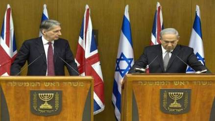 Philip Hammond and Binyamin Netanyahu