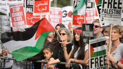 Pro-Palestinian demonstration in Britain