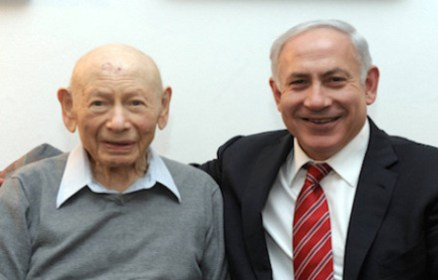 Binyamin Netanyahu and his father Benzion