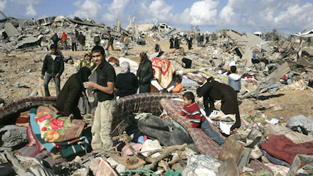 Rubble in Jabaliyya