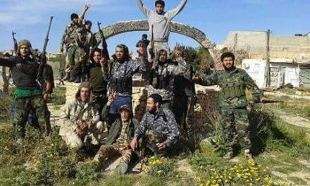 Benghazi: Libyan soldiers celebrating the liberation of Leithi district from jihadist cutthroats