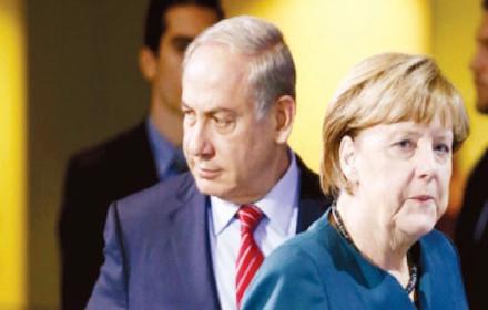 Angela Merkel and Binyamin Netanyahu