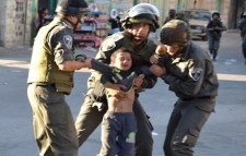 Israeli soldiers arrest Palestinian toddler