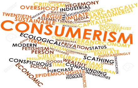 Consumerism word cloud