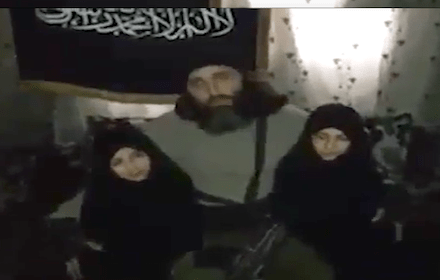 Syrian girl suicide bombers and father