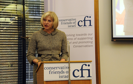 Theresa May at Israel lobby meeting
