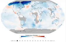 NASA map of climate change