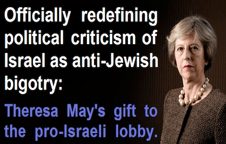 Theresa May's gift to the pro-Isreali lobby
