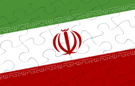 Iranian flag as a jigsaw puzzle