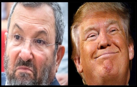 Ehud Barak and Donald Trump
