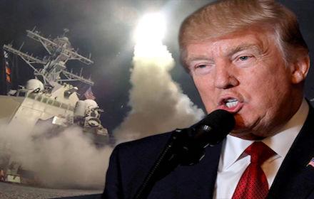 Trump warmongering on Syria