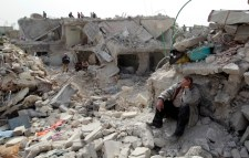 Rubble of Syrian civil war