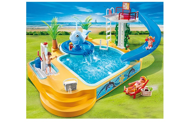 Playmobil Camping Children S Pool With Whale Fountain