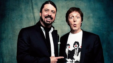 McCartney and Grohl (Photo courtesy of PPCORN)