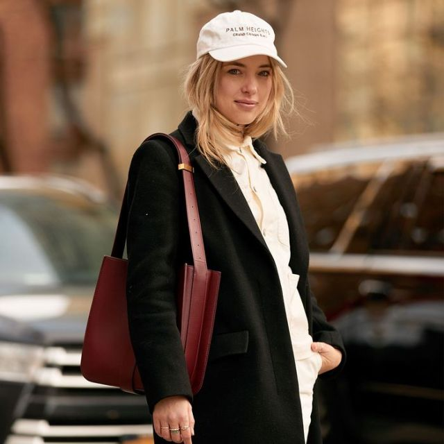 Business look with a base cap