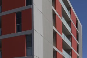 Redshift's Yagoona apartments have been designed with large scale recessed openings that create private balconies, shade and access to sun as well as light and ventilation to a number of rooms.