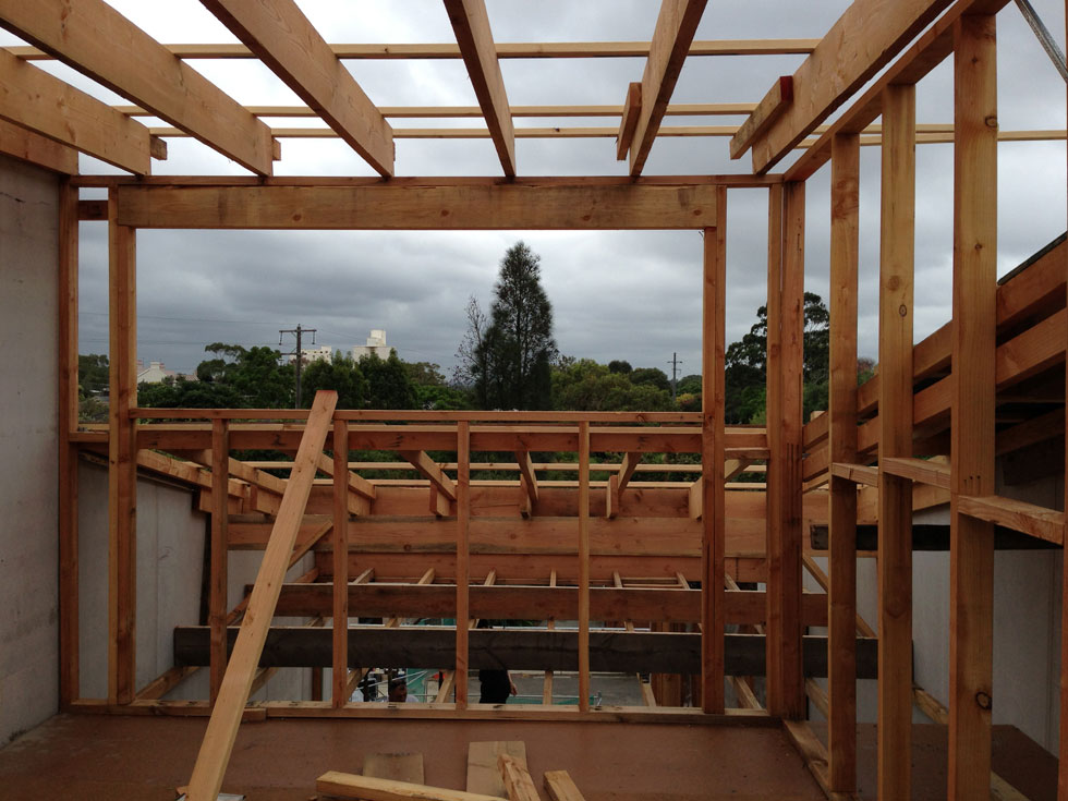 The horizontal window in the attic room, will provide a lovely view of the sky and the leafy district beyond. A private and special view.