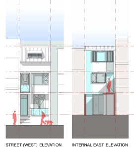 Elevations of the proposed Surry Hills Terrace.
