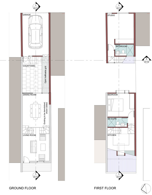 Sketch plans of proposed alteration and additions.
