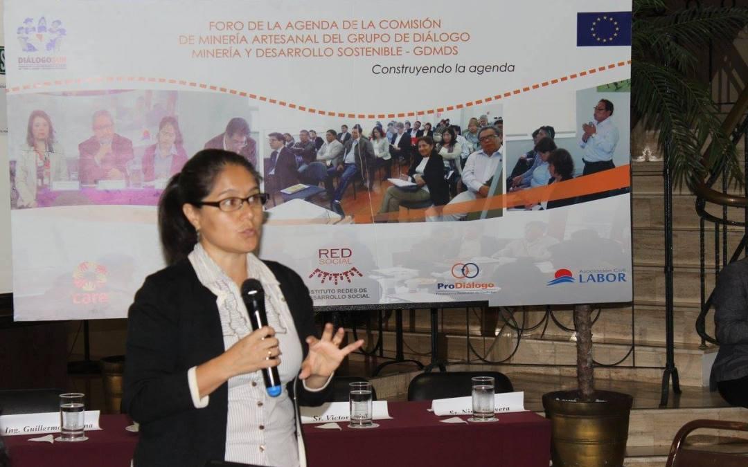 """3er foro GDMDS 2015 """"Construyendo la agenda sobre minería artesanal y de pequeña  escala en el Perú"""""""