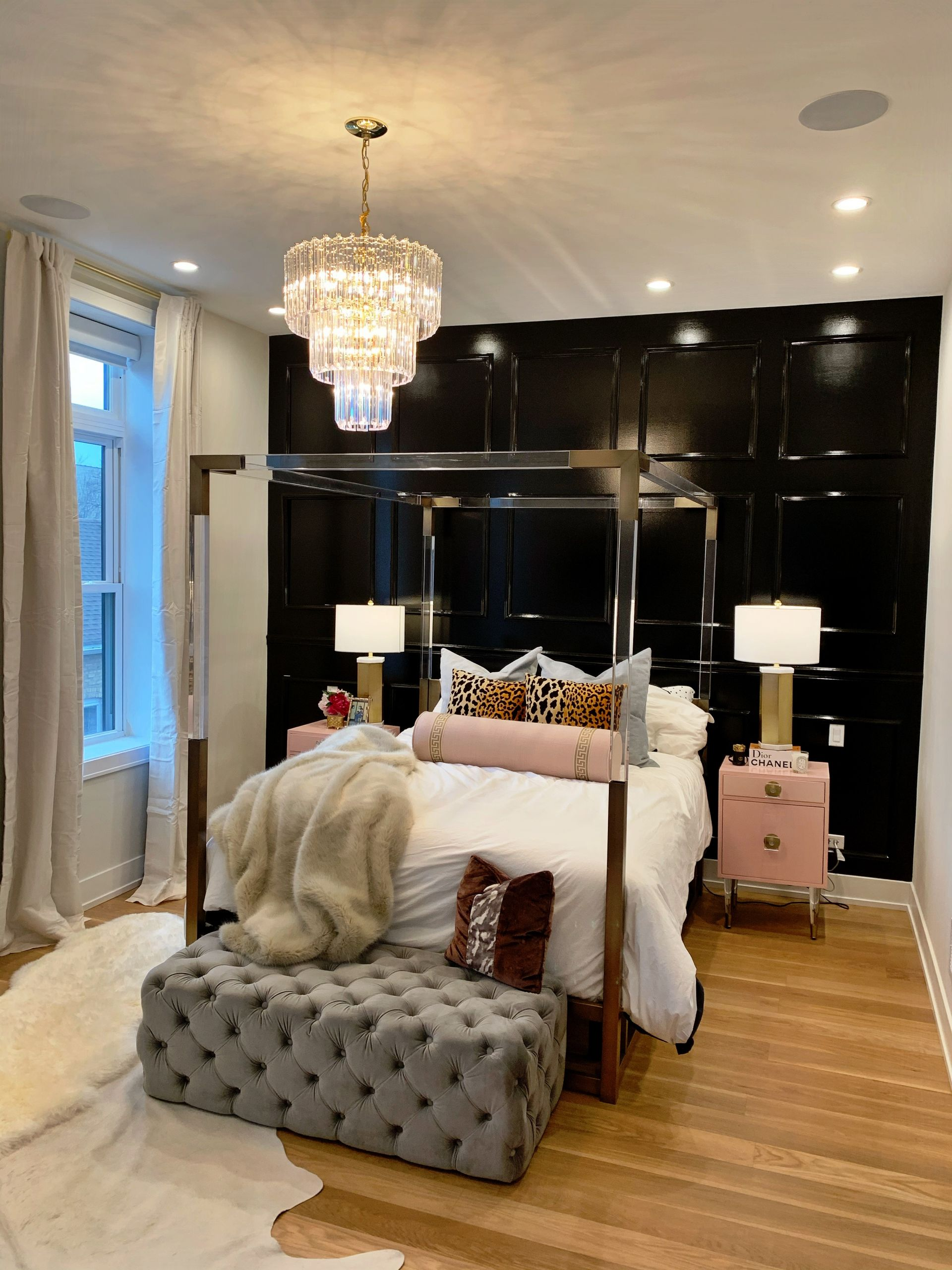 glam bedroom design for less than 200